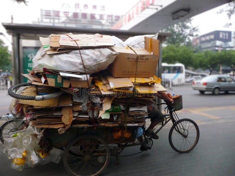 Συλλογή απορριμάτων παραδοσιακού κινέζικου στοκ εικόνες
