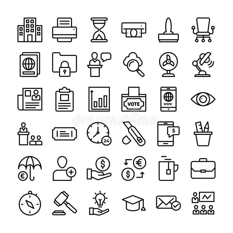 Συλλογή εικονιδίων επιχειρήσεων και χρηματοδότησης απεικόνιση αποθεμάτων
