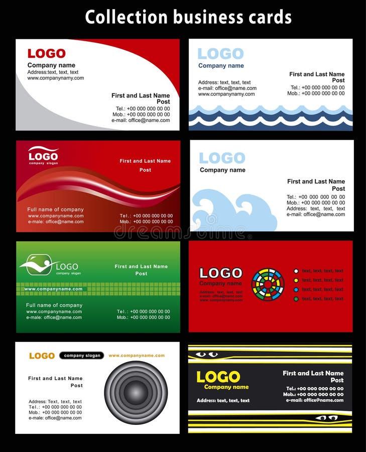 συλλογή επαγγελματικών καρτών απεικόνιση αποθεμάτων