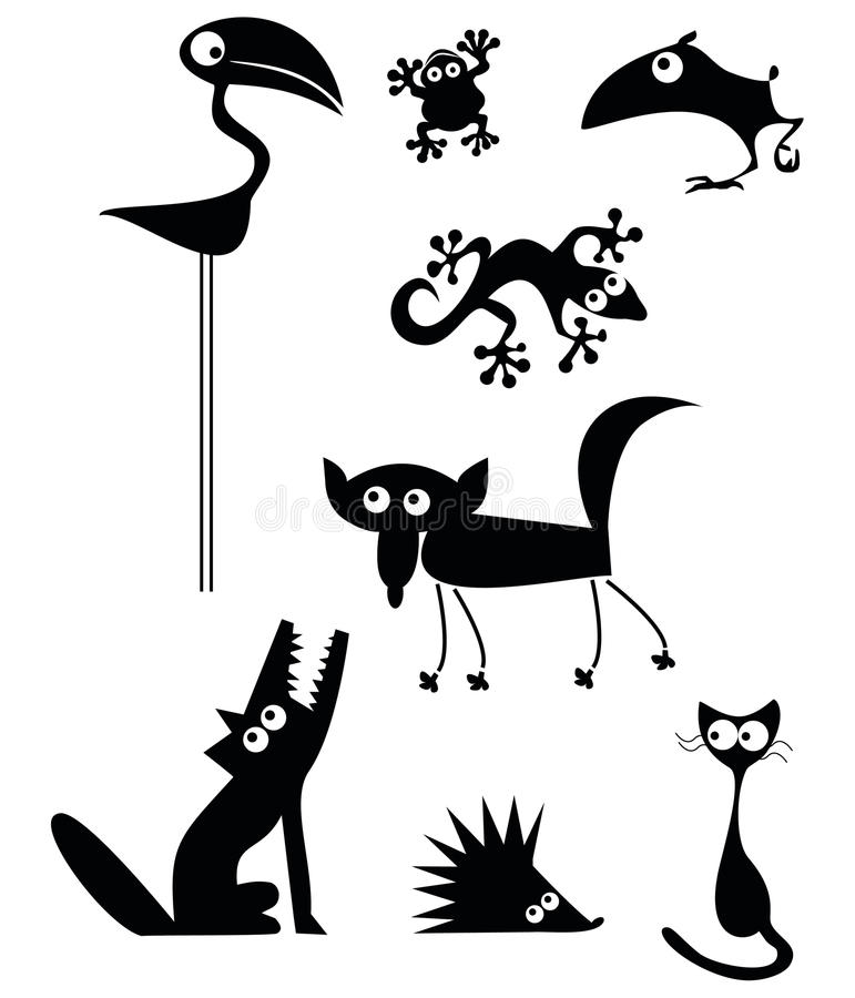 συλλογή ζώων αστεία ελεύθερη απεικόνιση δικαιώματος