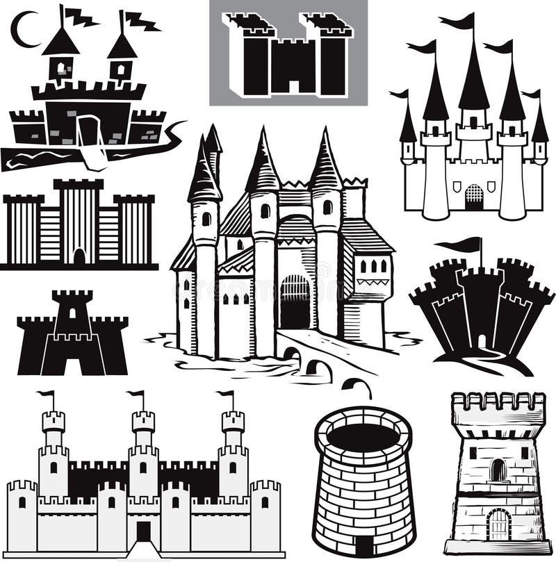 συλλογή κάστρων απεικόνιση αποθεμάτων
