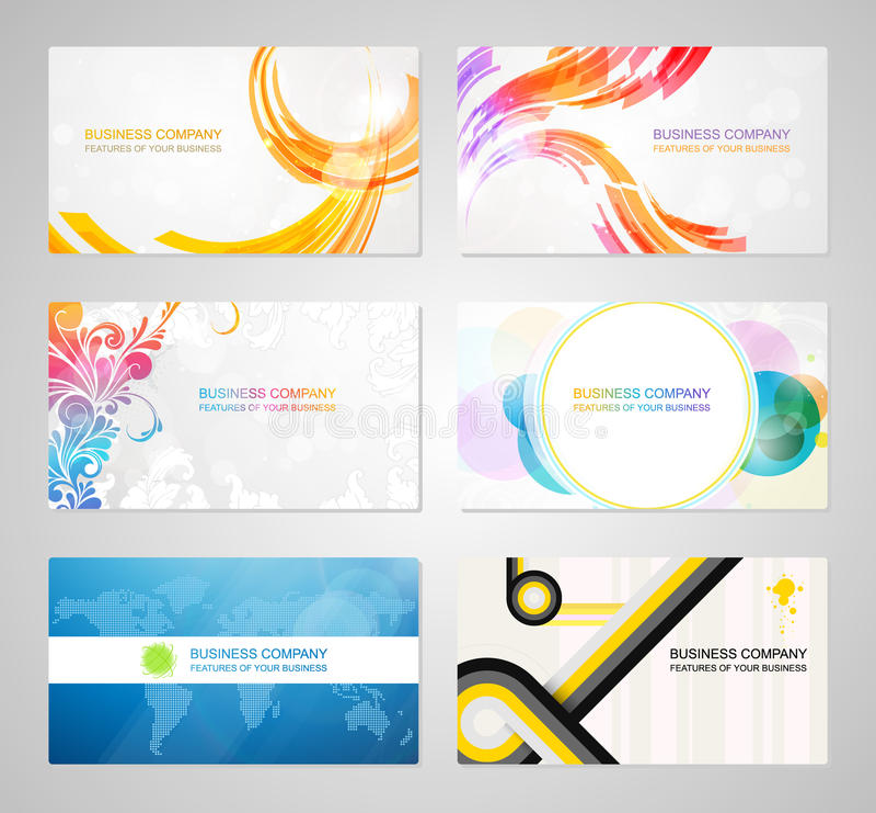 Συλλογή καρτών επιχειρησιακής επίσκεψης απεικόνιση αποθεμάτων