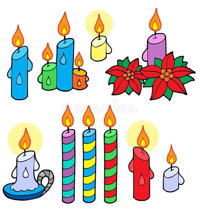συλλογή κεριών ελεύθερη απεικόνιση δικαιώματος