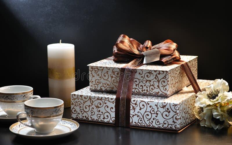 Συλλογή κιβωτίων δώρων στοκ φωτογραφία