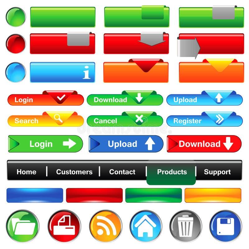 Συλλογή κουμπιών Ιστού διανυσματική απεικόνιση