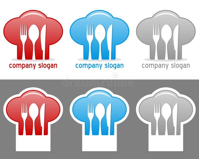 Συλλογή λογότυπων καπέλων αρχιμαγείρων ελεύθερη απεικόνιση δικαιώματος