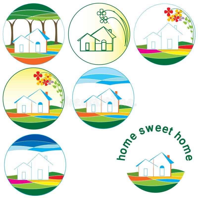 Συλλογή λογότυπων 'Οικωών απεικόνιση αποθεμάτων