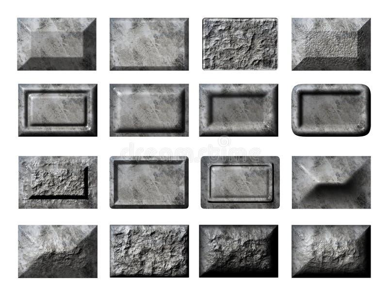 Συλλογή πέτρινων τούβλων στοκ εικόνα