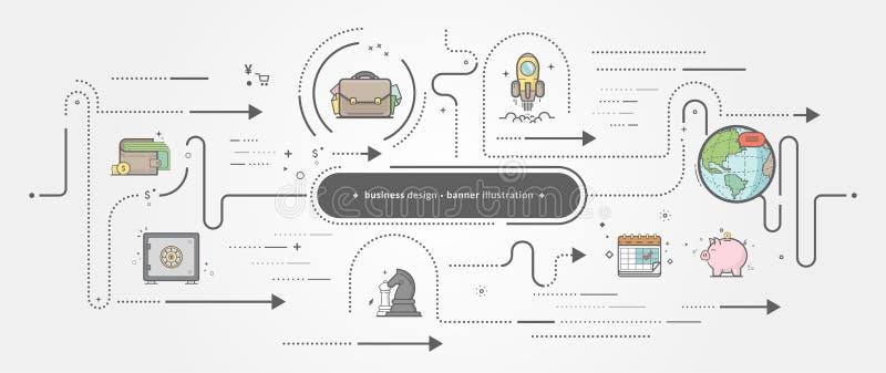 Συλλογή προτύπων επιχειρησιακών εμβλημάτων με τα εικονίδια στοκ εικόνα