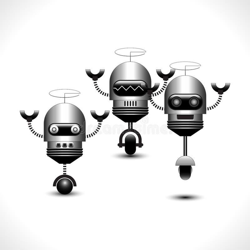 Συλλογή ρομπότ ελεύθερη απεικόνιση δικαιώματος