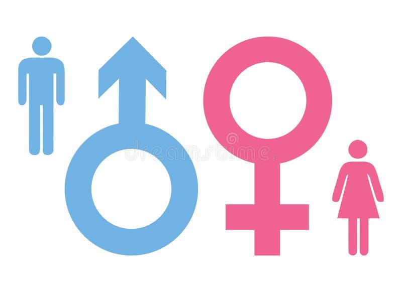 Συλλογή σημαδιών ανδρών και γυναικών απεικόνιση αποθεμάτων