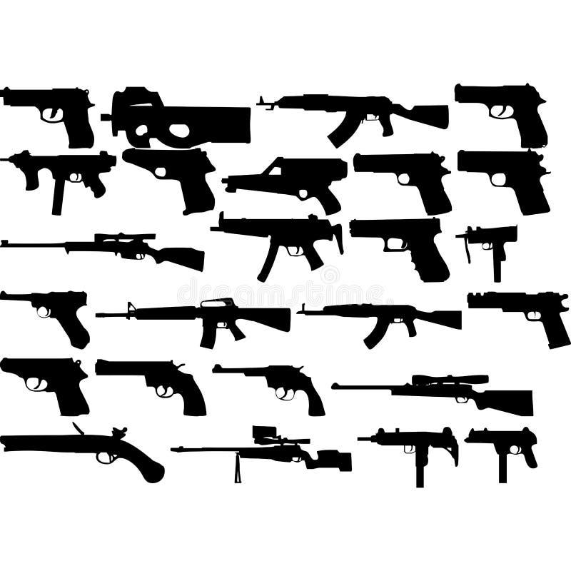 Συλλογή σχεδίου όπλων για το σχέδιο απεικόνιση αποθεμάτων