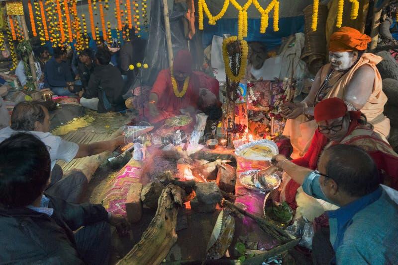 Συλλογή του ινδικού ινδού sadhus στοκ εικόνες με δικαίωμα ελεύθερης χρήσης