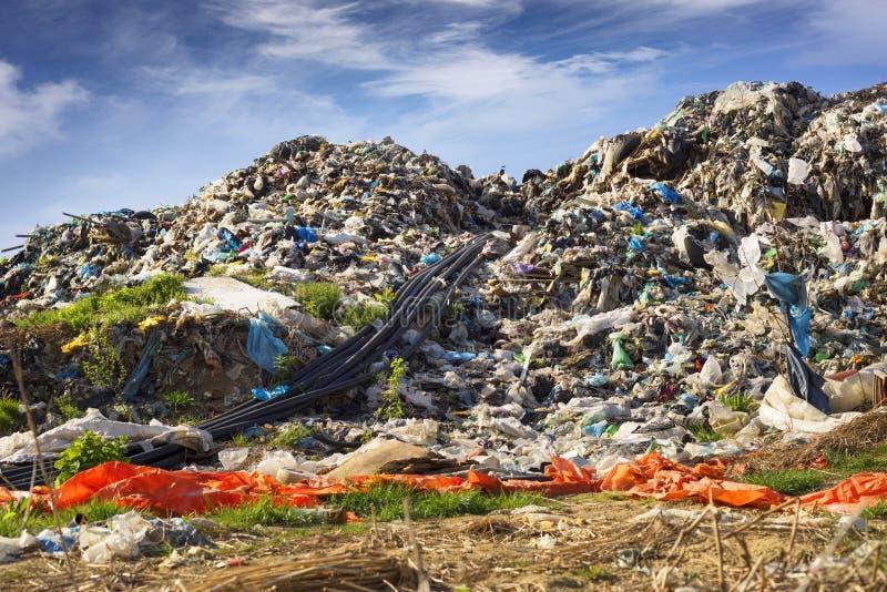 Συλλογή του μεθανίου στα απορρίμματα στοκ φωτογραφίες με δικαίωμα ελεύθερης χρήσης