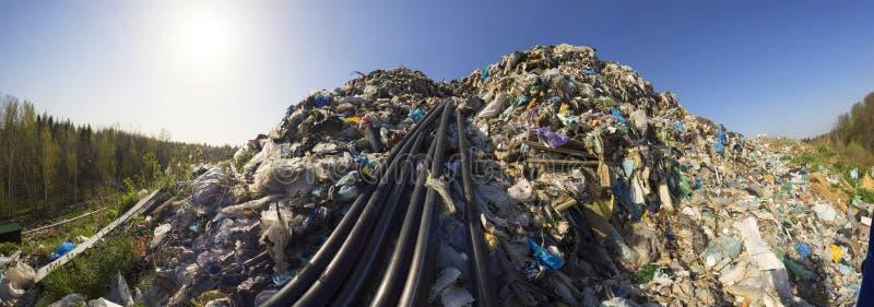 Συλλογή του μεθανίου στα απορρίμματα στοκ φωτογραφία με δικαίωμα ελεύθερης χρήσης