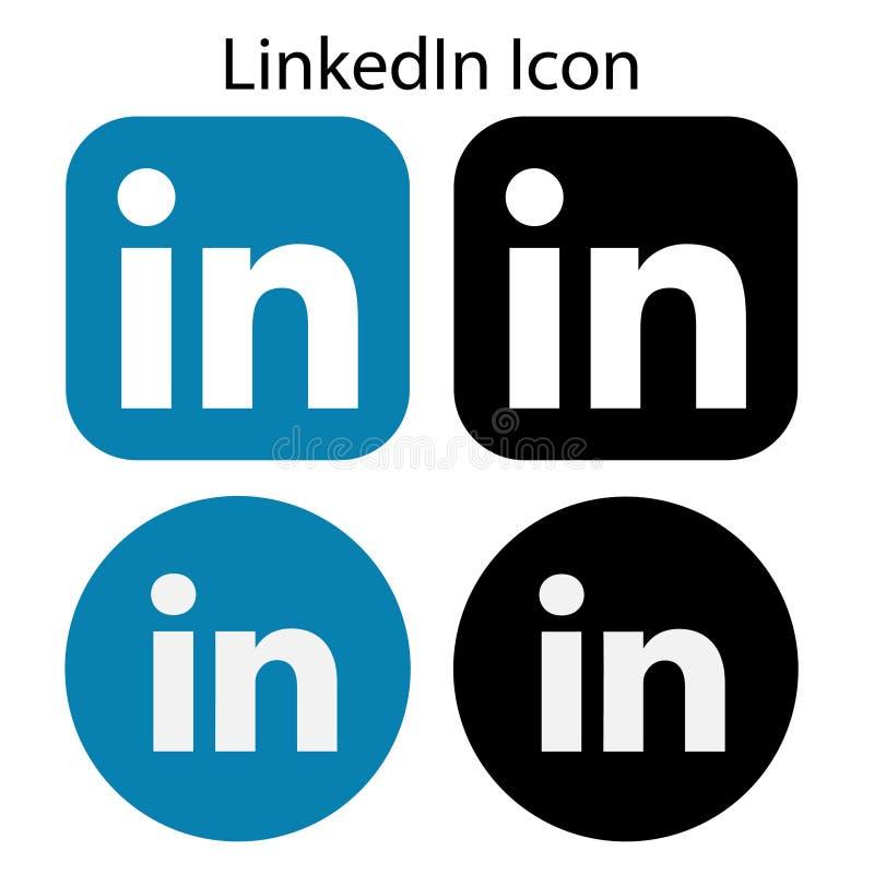 Συλλογή του χρωματισμένου & γραπτού λογότυπου LinkedIn στοκ φωτογραφία