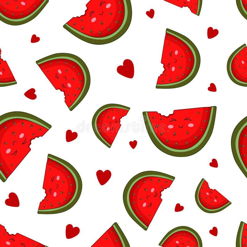 Συλλογή τροφίμων Kawaii διανυσματική απεικόνιση