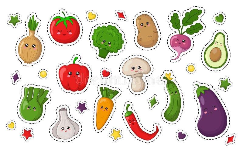 Συλλογή τροφίμων Kawaii απεικόνιση αποθεμάτων