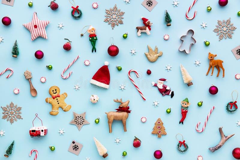 Συλλογή των αντικειμένων Χριστουγέννων στοκ εικόνες
