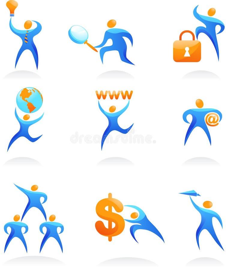 Συλλογή των αφηρημένων λογότυπων ανθρώπων - 10 ελεύθερη απεικόνιση δικαιώματος