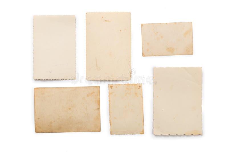 Συλλογή των διάφορων παλαιών φωτογραφιών στο άσπρο υπόβαθρο καθένας πυροβολείται χωριστά στοκ εικόνες