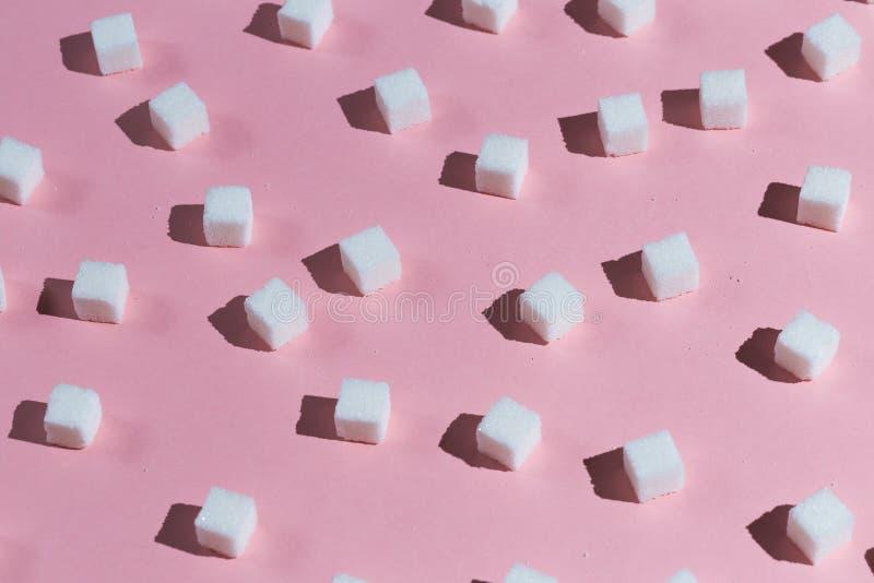 Συλλογή των κύβων της ζάχαρης στοκ εικόνες με δικαίωμα ελεύθερης χρήσης