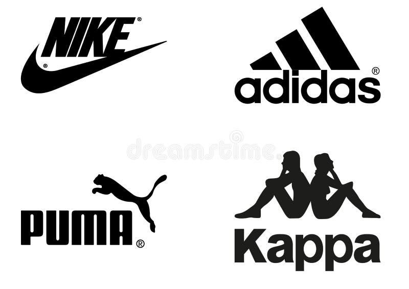 Συλλογή των λογότυπων sportswear των επιχειρήσεων ελεύθερη απεικόνιση δικαιώματος