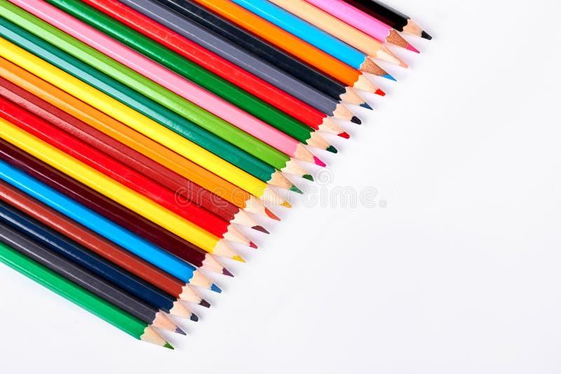 Συλλογή των πολύχρωμων μολυβιών για το σχέδιο στοκ εικόνα με δικαίωμα ελεύθερης χρήσης
