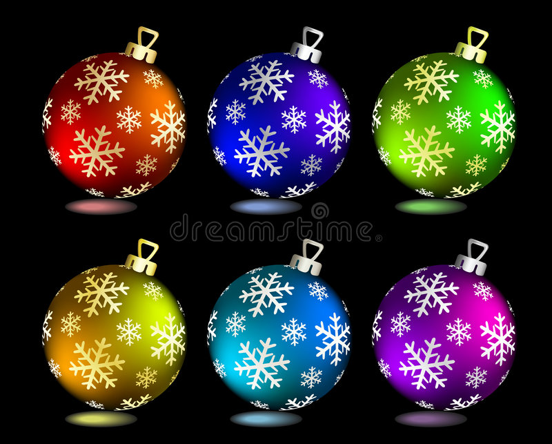 συλλογή Χριστουγέννων σφαιρών ελεύθερη απεικόνιση δικαιώματος