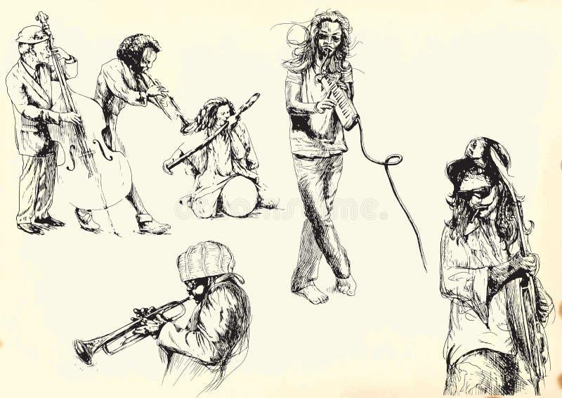 Συλλογή 2 μουσικών διανυσματική απεικόνιση
