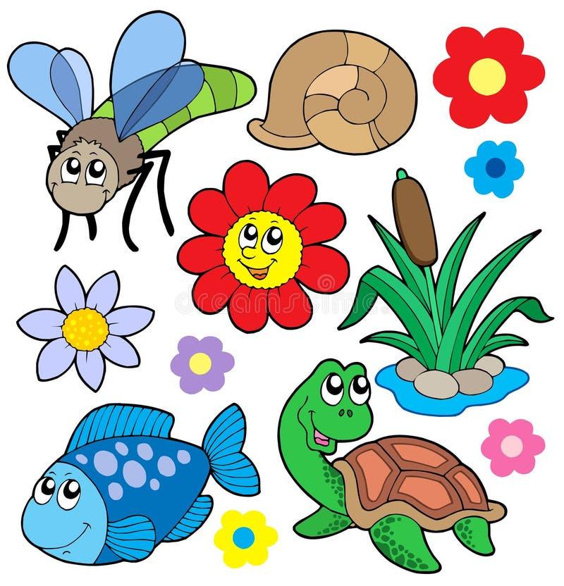 συλλογή 5 ζώων μικρή διανυσματική απεικόνιση