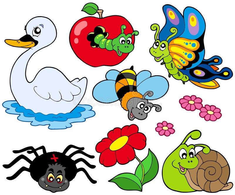 συλλογή 9 ζώων μικρή διανυσματική απεικόνιση