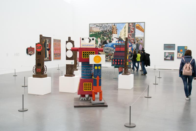 Συλλογικές εγκαταστάσεις στο διάσημο Tate Modern στο Λονδίνο στοκ φωτογραφία με δικαίωμα ελεύθερης χρήσης
