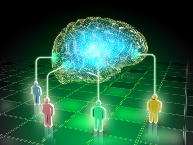 Συλλογικό μυαλό απεικόνιση αποθεμάτων