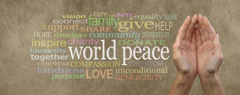 Συμβάλτε στο έμβλημα εκστρατείας παγκόσμιας ειρήνης στοκ εικόνα