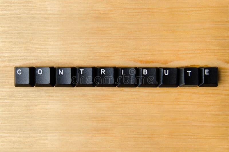 Συμβάλτε τη λέξη στοκ φωτογραφίες με δικαίωμα ελεύθερης χρήσης
