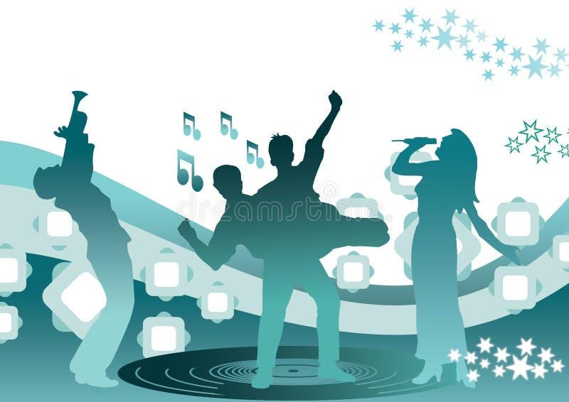 συμβαλλόμενο μέρος μουσικής διανυσματική απεικόνιση