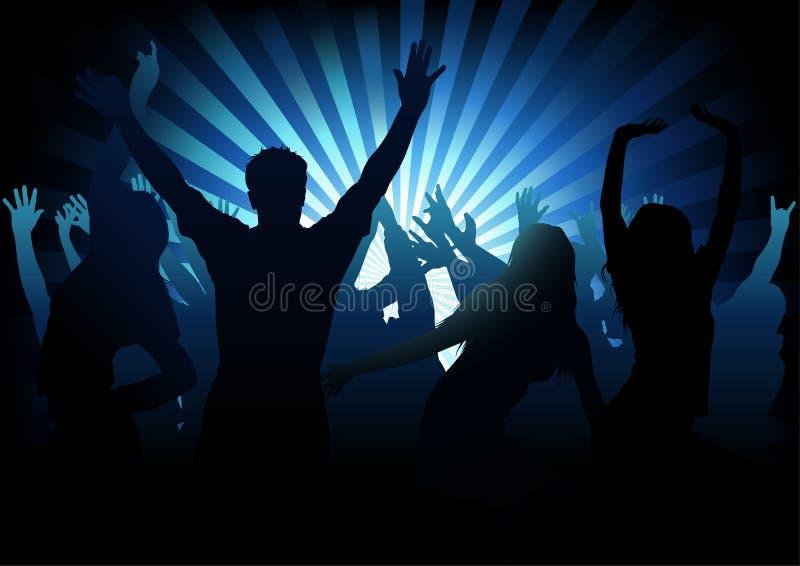 Συμβαλλόμενο μέρος χορού διανυσματική απεικόνιση