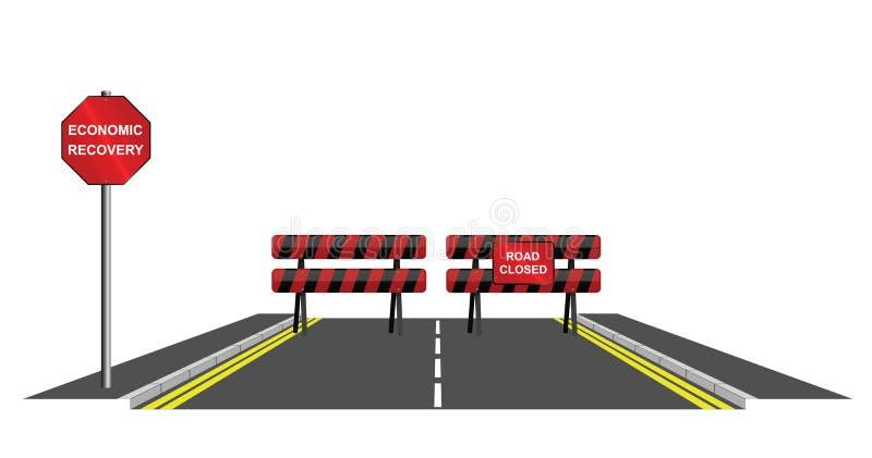 Συμβολικός δρόμος κλειστός διανυσματική απεικόνιση
