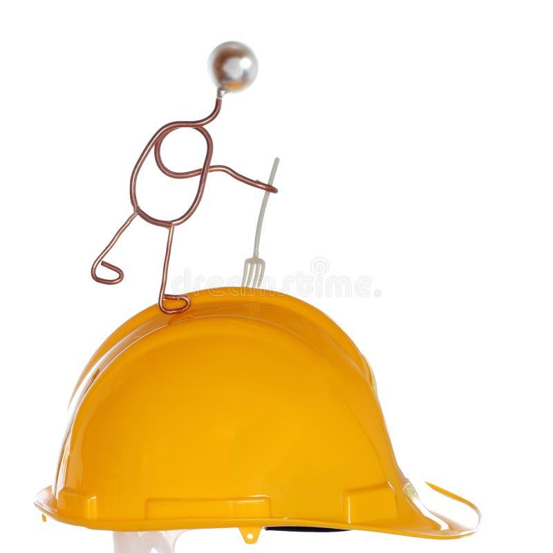 Συμβολικός εργαζόμενος με gavel διανυσματική απεικόνιση