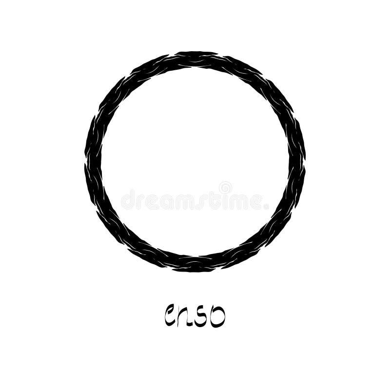 Συμβολικός κύκλος της Zen διανυσματική απεικόνιση