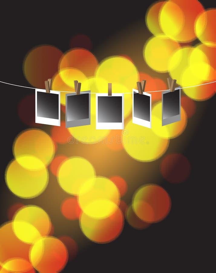 Συμβολοσειρά της ανασκόπησης Bokeh φωτογραφιών Polaroid ελεύθερη απεικόνιση δικαιώματος