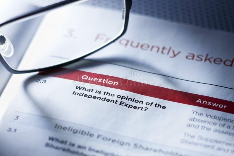 Συμβουλές Γνώμης επιχειρησιακής ερώτησης στοκ φωτογραφία με δικαίωμα ελεύθερης χρήσης
