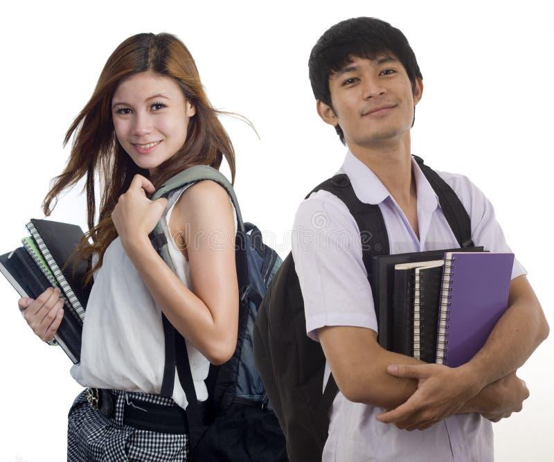 συμμαθητές δύο στοκ εικόνα με δικαίωμα ελεύθερης χρήσης