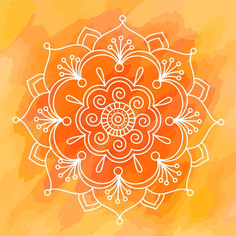 Συμμετρικό διάνυσμα rangoli υποβάθρου σχεδίων Diwali ινδικό ελεύθερη απεικόνιση δικαιώματος