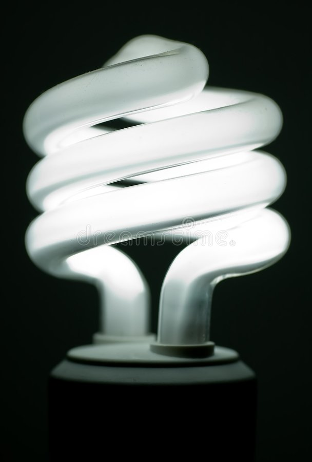 συμπαγές φθορισμού lightbulb στοκ εικόνες με δικαίωμα ελεύθερης χρήσης