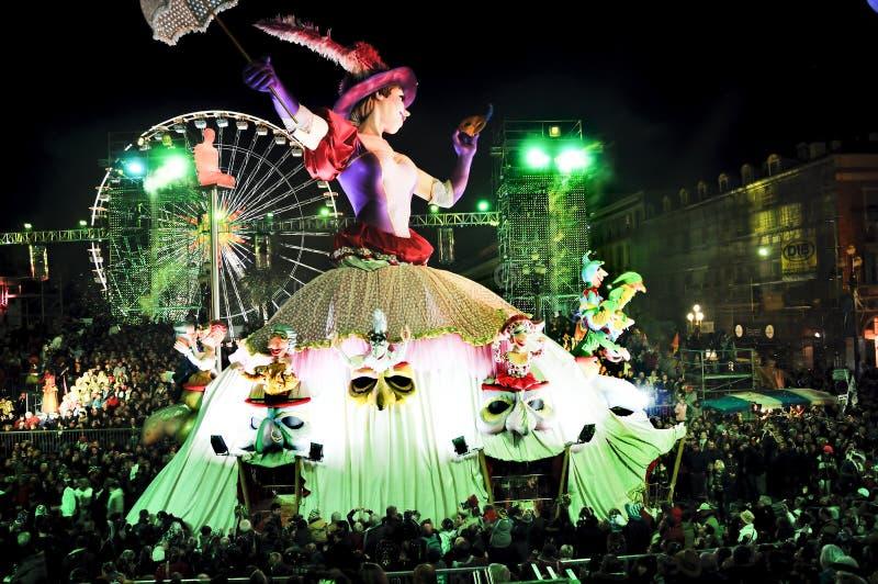 συμπαθητική παρέλαση καρναβαλιού Γαλλία στοκ φωτογραφίες