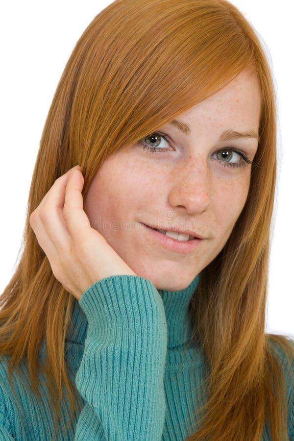 συμπαθητική redhead γυναίκα πο&rh στοκ φωτογραφίες με δικαίωμα ελεύθερης χρήσης
