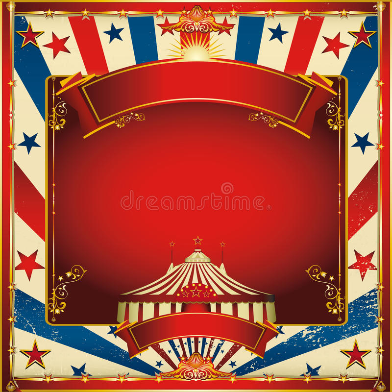συμπαθητικός κορυφαίος τρύγος τσίρκων ανασκόπησης μεγάλος στοκ εικόνες με δικαίωμα ελεύθερης χρήσης