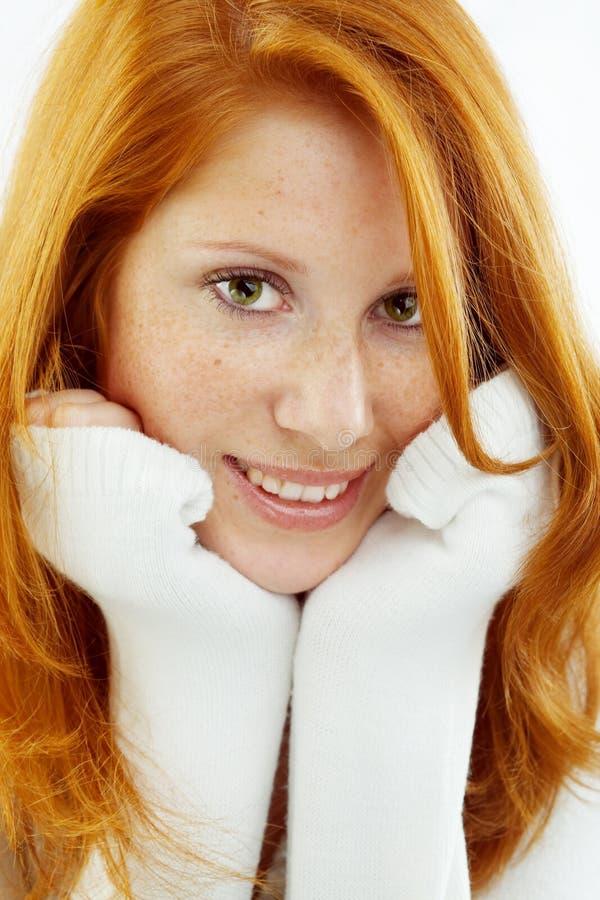 συμπαθητικός redhead στοκ εικόνα με δικαίωμα ελεύθερης χρήσης